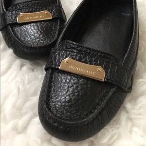 Burberry Grain Leather Loafers